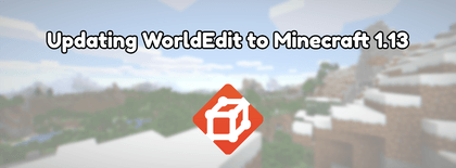Updating WorldEdit to Minecraft 1.13