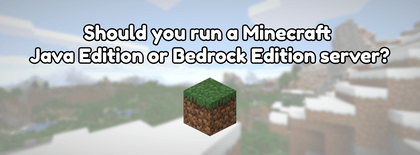 Should you run a Minecraft Java Edition or Bedrock Edition server?